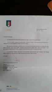 lettera tavecchio